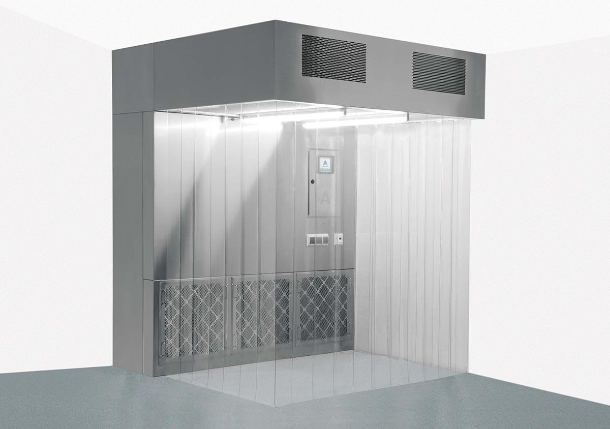 The Air Booth 3600 - Cabine de prélèvement et de pesées