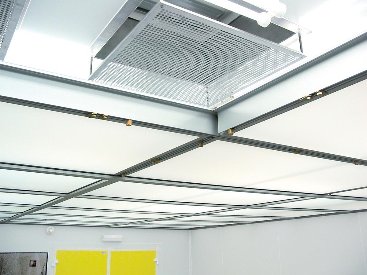 The Air Laminar - módulo de flujo laminar instalado con tela difusora desmontada